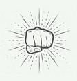 fist activist monochrome grunge vector image