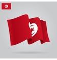 Flat and waving Tunisia Flag vector image vector image