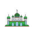 flat design mosque vector image