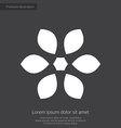 flower premium icon white on dark background vector image vector image