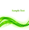 Green wavy background with white copy space vector image