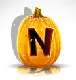 Halloween Pumpkin N vector image vector image