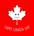 happy maple leaf canada day vector image