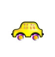 house car yellow toy icon color in style funny vector image vector image