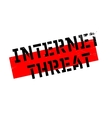 Internet Threat rubber stamp vector image vector image