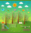 kids playground vector image vector image