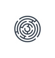 labyrinth related glyph icon vector image vector image