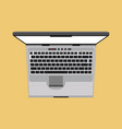 laptop top view icon business screen blank above vector image vector image