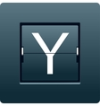 Letter Y from mechanical scoreboard vector image vector image