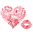 LOVE heartsandkisses vector image