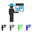 man calendar flat icon vector image vector image