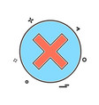 maths signs icon design vector image