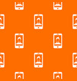 mobile phone with photo pattern seamless vector image vector image