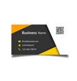 modern business card template black background vec vector image