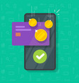 money bonus reward on mobile phone screen vector image vector image