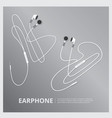 music earphones vector image