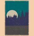 nature landscape vintage colorful poster vector image vector image