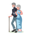old man and woman isolated vector image vector image