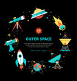 outer space - colorful flat design style web vector image vector image