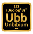 periodic table element unbinilium icon vector image vector image
