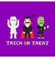 Pixel art game style cartoon halloween mummy vector image