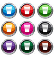 plastic office waste bin set 9 collection vector image vector image