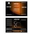 Professional three fold business flyer template vector image vector image
