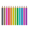 realistic colored pencils isolated vector image vector image