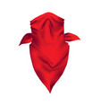 red realistic bandana on head youth fashion neck vector image vector image