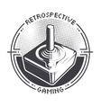 Retro Video Game Joystick vector image vector image