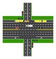 Road infographics Large highway intersection with vector image vector image