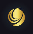 round swirl abstract design gold logo vector image vector image