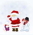 santa christmas characters vector image