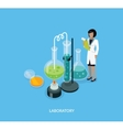 Science Lab Isomatric Design Flat vector image