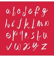 Scribble handwritten font fresh brushed alphabet vector image vector image