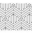 seamless isometric pattern monochrome black lines vector image vector image