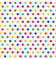 seamless pattern colorful polka dots background vector image vector image