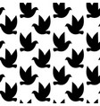 seamless pattern with birds silhouettes black vector image vector image