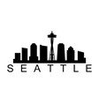 seattle icon vector image vector image