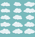 set of clouds vector image vector image