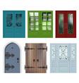 set of different white door vector image vector image