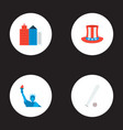 set of usa icons flat style symbols with uncle sam vector image