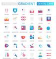 set trendy flat gradient dental care vector image