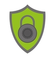 shield with key lock vector image