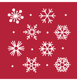 simple snowflakes collection vector image vector image