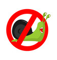 stop snail prohibited insect pest red prohibitory vector image