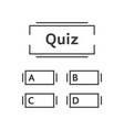 thin line quiz game template vector image
