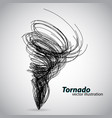 tornado from curves and spirals vector image vector image