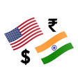 usdinr forex currency pair american and indian vector image