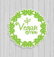 vegan menu design 1307 vector image vector image